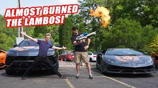 Almost Burned 1 Million Dollars Worth Of Lamborghinis For A Thumbnail...