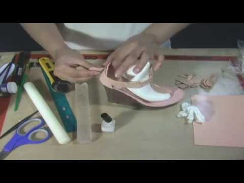 Making A Wedge Heel Shoe In Gumpaste By Petal Crafts