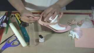 Making a Wedge Heel Shoe in Gumpaste by Petal Crafts