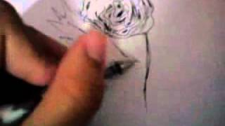 how to draw rose :D