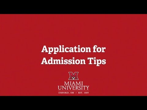 Application For Admission Tips