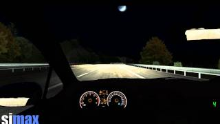 Simax Night Driving Simulation
