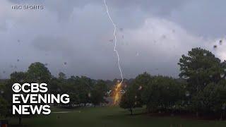 At least 5 injured in lightning strike at PGA Tournament