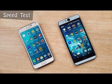 HTC Desire Eye vs Samsung Galaxy S5 Speed Test!