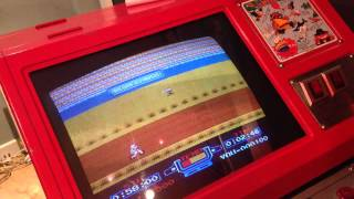 My Nintendo VS duel system red tent. Excitebike game play