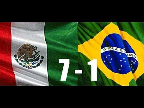 LIVE: MEXICO V BRAZIL ( 7-1 ) FIFA 17 GAMEPLAY