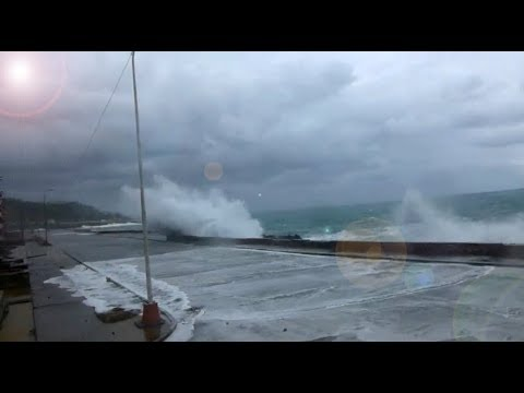 Hurricane Irma Waves Break Over Seawalls In Cuba