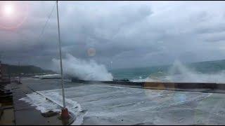 Hurricane Irma Waves Break Over Seawalls In Cuba