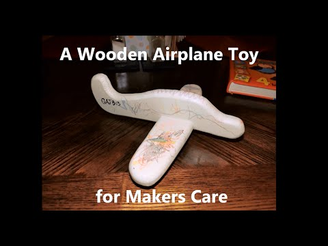 D.I.Y. - Wooden Airplane Toy for Makers Care