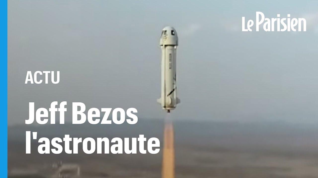 Download Premier vol spatial réussi pour Jeff Bezos, «abasourdi» par «la beauté et la fragilité» de la Terre