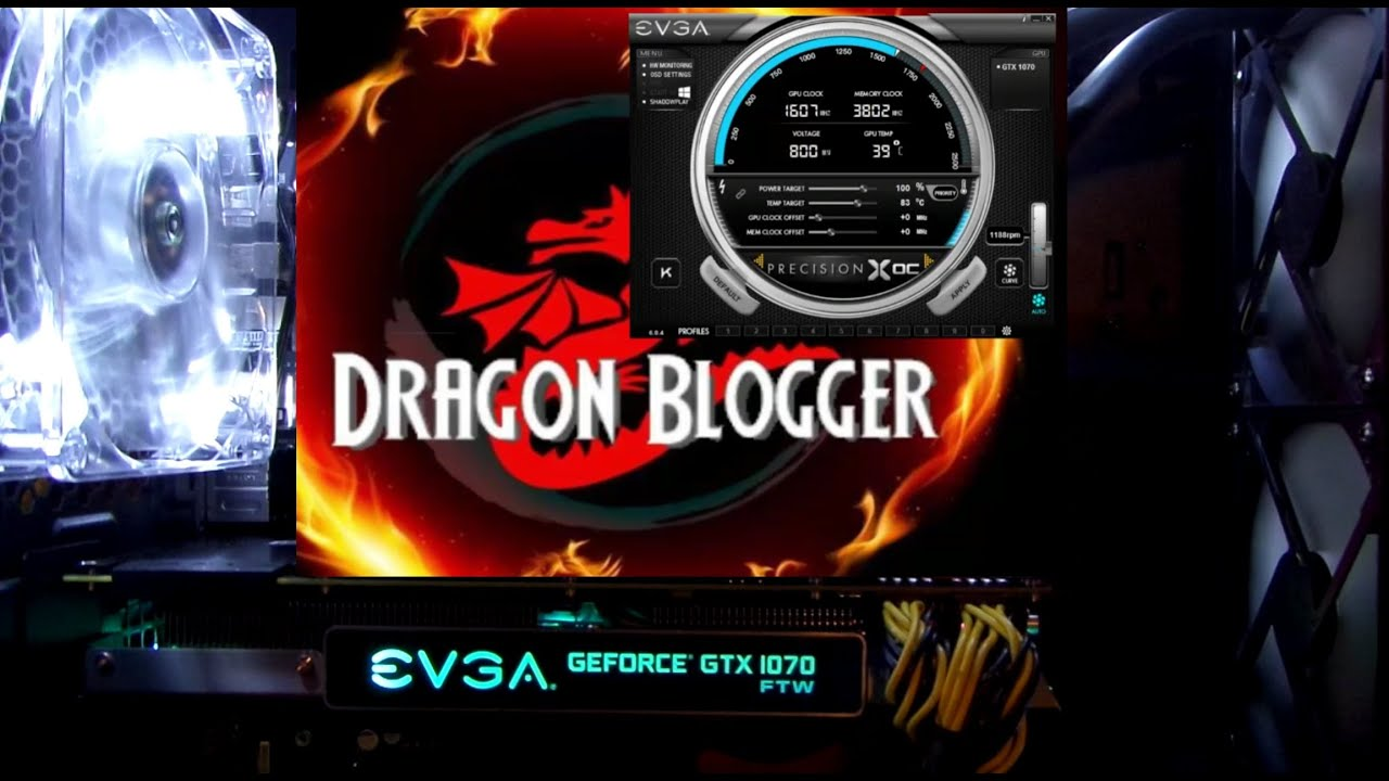 How the LED lighting works on the EVGA GeForce GTX 1070 FTW 08G-P4-6276-KR