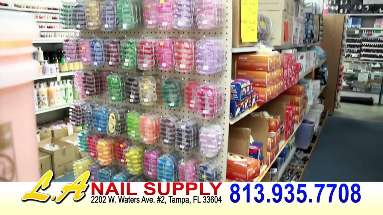 LA Nail Supply Tampa, FL - YouTube