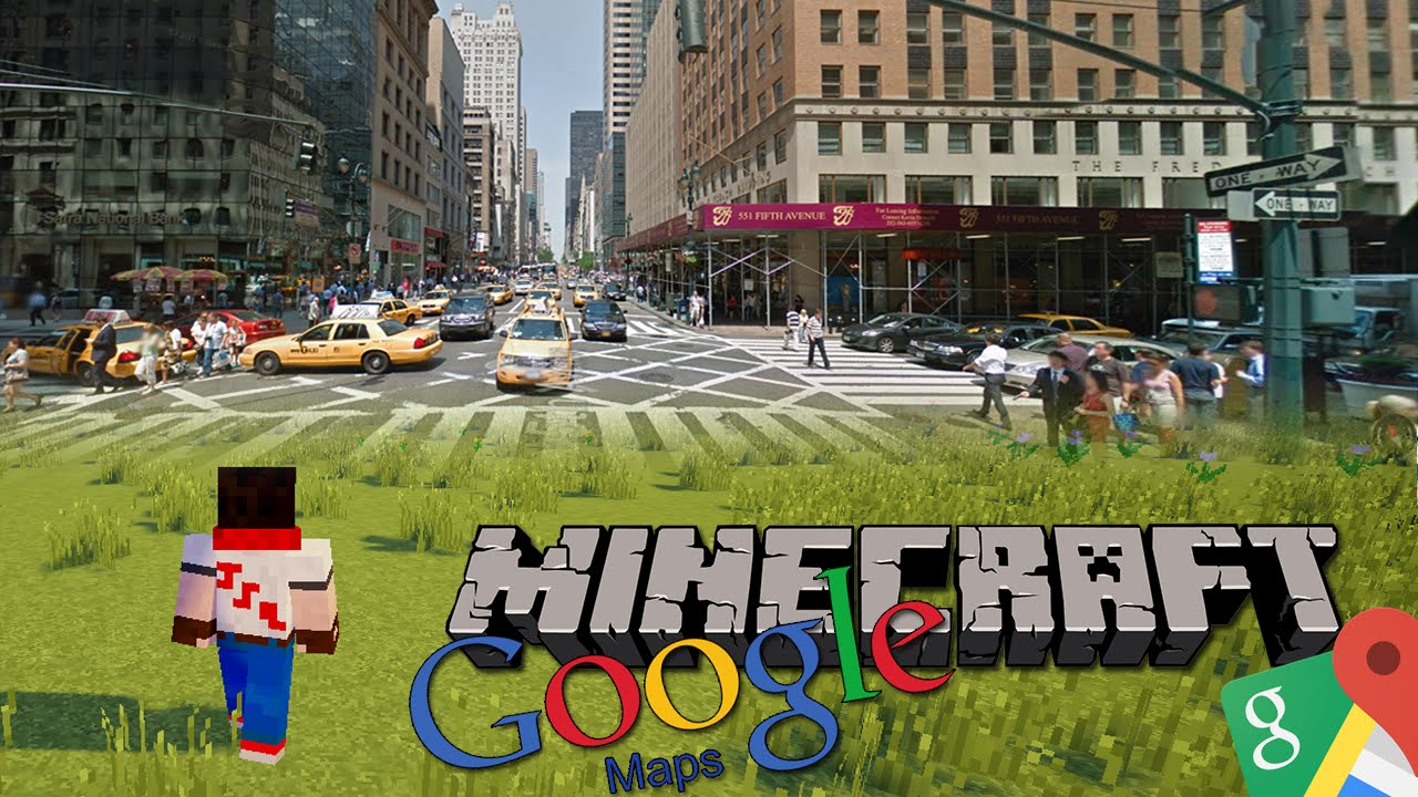 GOOGLE MAPS IN MINECRAFT! - The Earth Mod! | Minecraft Mod Showcase ...