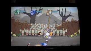 Hatty Hattington appears to kiss the princess in CASTLE CRASHERS