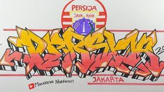 Cara Membuat Graffiti Persija Jakarta Terbaru - Grafiti Persija Jakarta