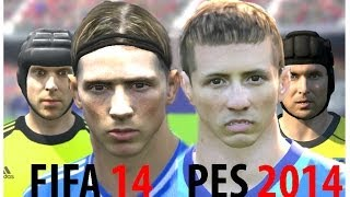 FIFA 14 vs PES 2014 Faces - Chelsea (Face Comparison)