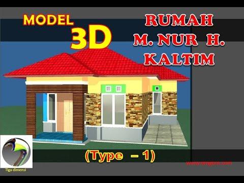 animasi model 3d rumah Bpk M Nur Hikmah Kaltim