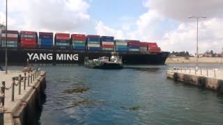 قناة السويس الجديدة : أنتظار معدية نمرة 6حتى مرور سفينة عملاقة