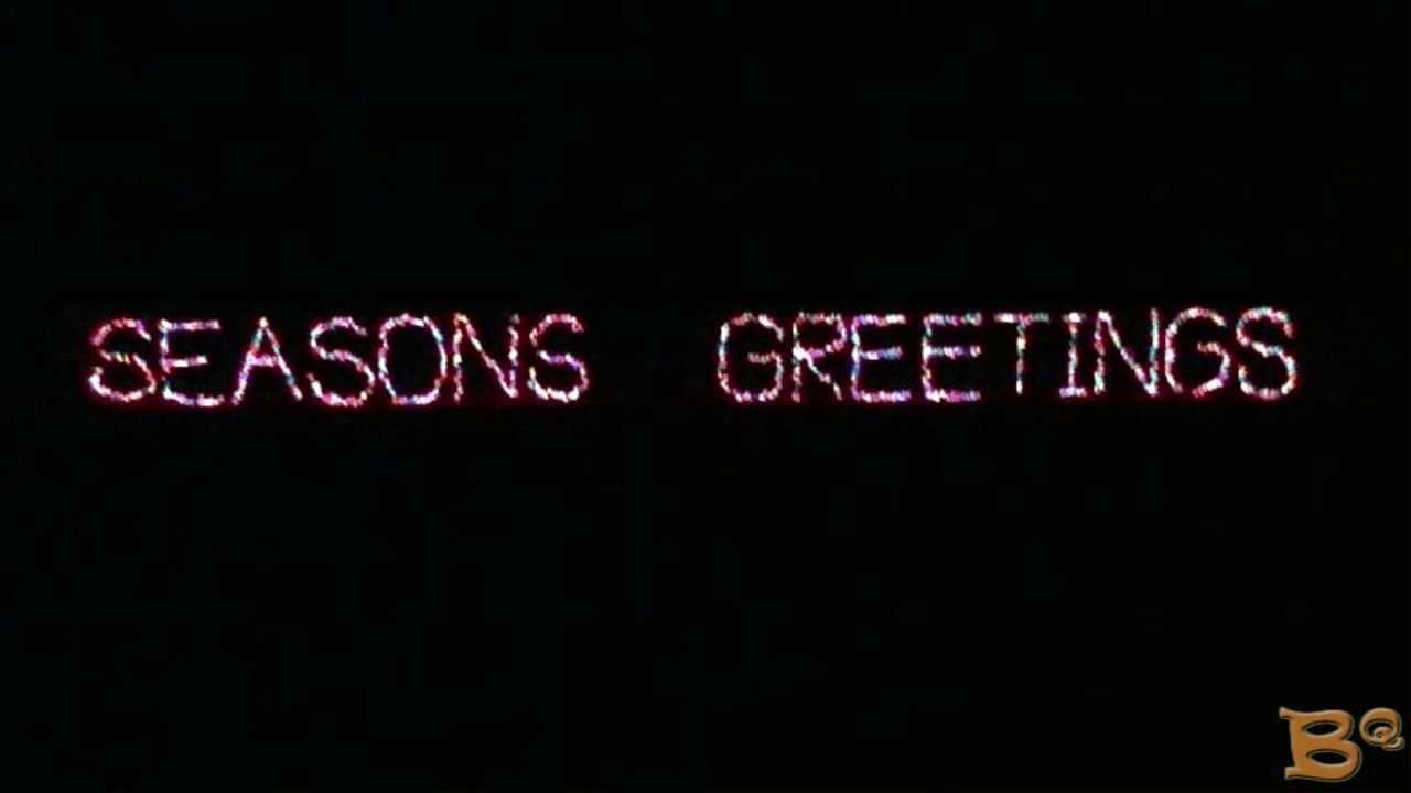 Seasons greetings in christmas light letters youtube