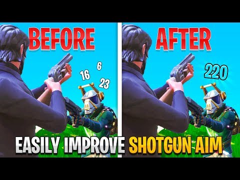 How To EASILY Improve Your Controller Shotgun Aim! (Fortnite PS4 + Xbox Shotgun Tips)