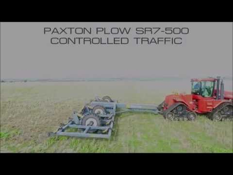 Paxton Plow Deep Ripper 40 Foot Controlled Traffic Unit Via Drone Footage (1080p FHD)