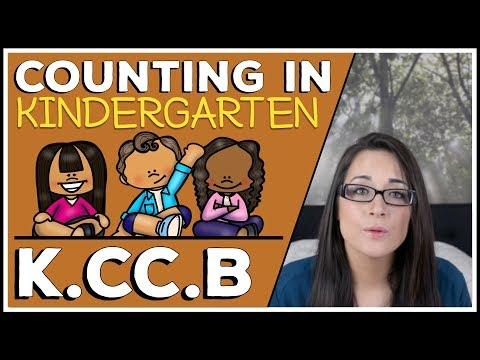 Math Common Core Standard KCCB Explained:  Counting in Kindergarten