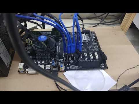 Bitcoin Mining Machine Asrock H110 Pro BTC+ Board