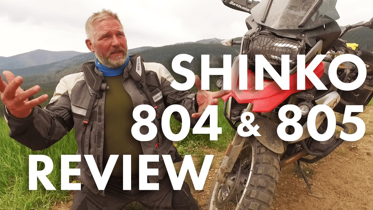 review  shinko 804 and 805 adventure trail tires
