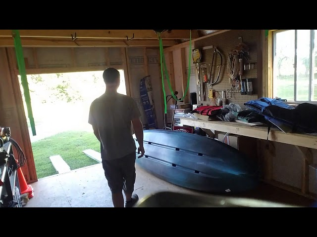 Hanging my Kayak in the barn (How to store your kayak)