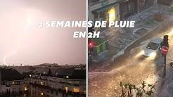 De violents orages  en île-de-France ont surpris les habitants