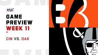 Cincinnati Bengals vs Oakland Raiders Week 11 NFL Game Preview