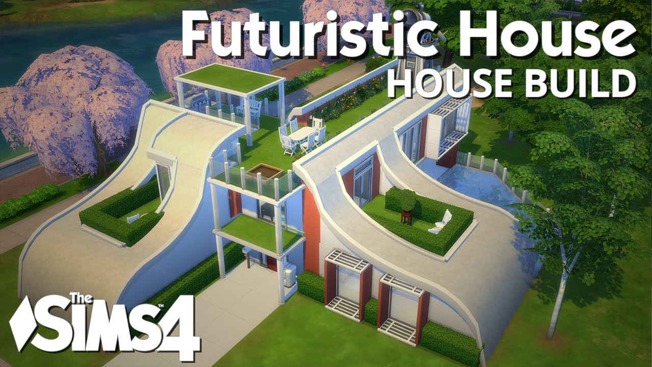 Futuristic House Prepossessing The Sims 4 House Building  Futuristic House  Youtube Review