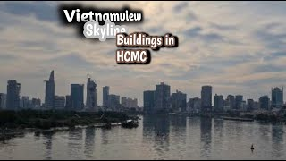 Vietnamview | saigonskyline 2020 from high-rise buildings in hochiminh city