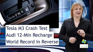 ecoTEC 68: Model 3 Crash Test, 12-Min Charging, Reverse Records!