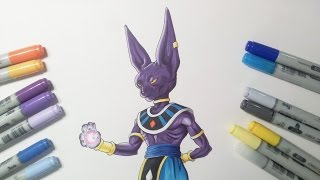 Drawing Lord Beerus/Bills - God of Destruction | Dragon Ball Super