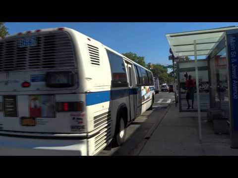 MTA New York City Bus: Orion 07.501 OG HEV & RTS NovaBus Q20/Q20A @ Main Street & Jewel Avenue!