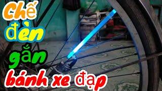 Chế đèn gắn  Bánh Xe Đạp  led 7 màu cực chất   chế đèn xe đạp