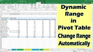 updating pivot table data range