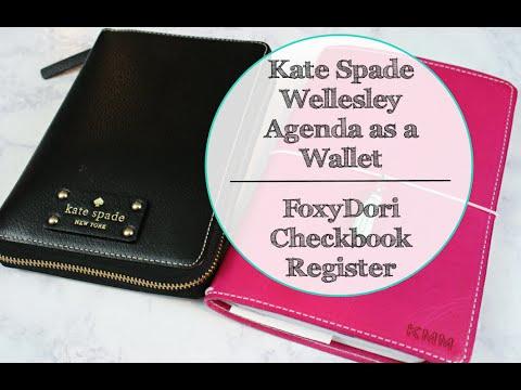 Kate Spade Wellesley Agenda as a Wallet | FoxyDori Checkbook Register