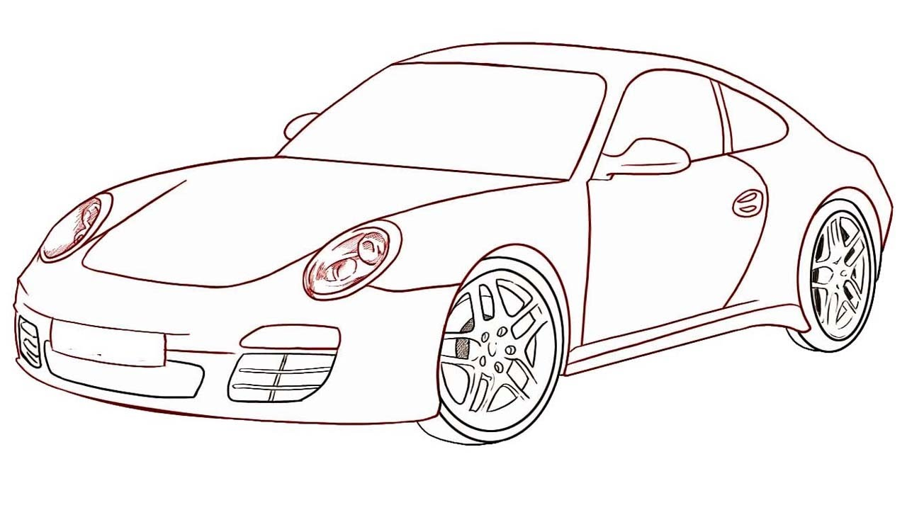 how to draw a car step by step draw a car for kids draw a car easily for beginners