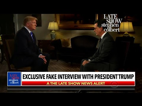 Trump Gets Real In This Fake Interview With Stephen
