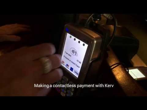 Making a quick and easy payment with K Ring ...contactless at the Pub