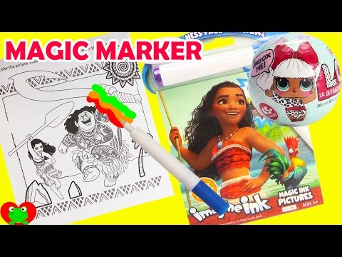 Moana Imagine Ink Coloring Magic Marker and LOL Surprise Dolls