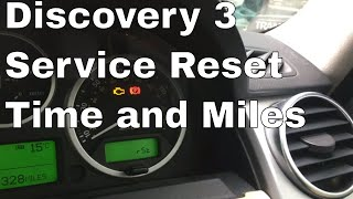 How to reset your service indicator on a Land Rover Discovery 3