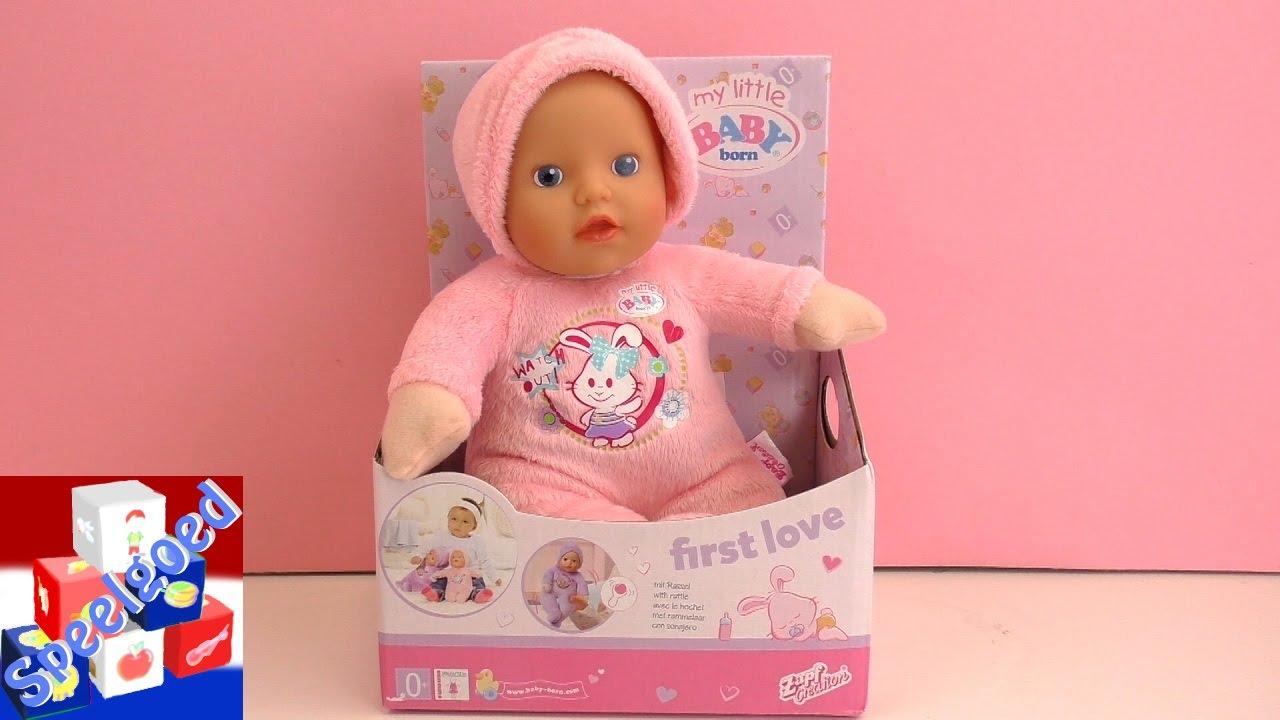 pop voor baby 1 jaar My Little Baby Born van Zapf Creation demo – First Love pop voor  pop voor baby 1 jaar