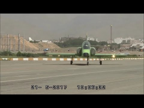 Iran made Combat Trainer Jet dubbed Kosar 88 taxi test آزماي