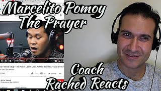 Coach Reaction - Marcelito Pomoy - The Prayer