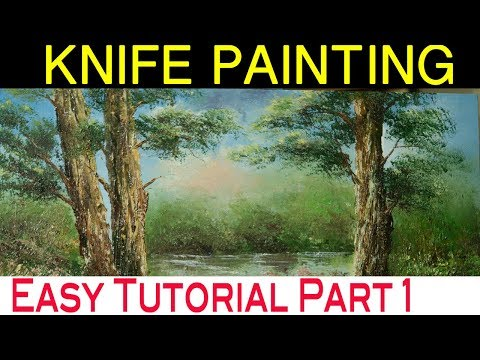 How to make landscape painting tutorial for beginners  PART 1