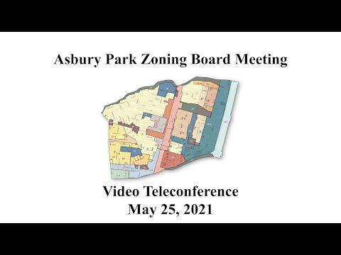 Asbury Park Zoning Board Meeting - May 25, 2021