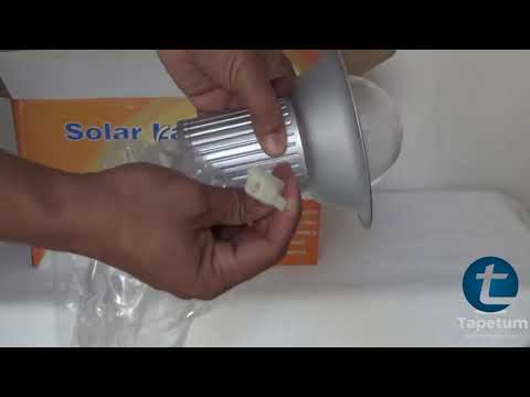 Product Demo of Solar Home Light 5 Watt - TTSHL5W with 500 Lumens and Built in LiFePO4 Battery